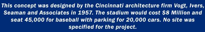 1957 Cincinnati stadium concept.