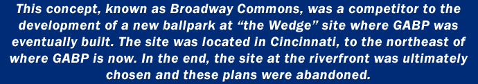 This concept, known as Broadway Commons, was a competitor to the development of a new ballpark at