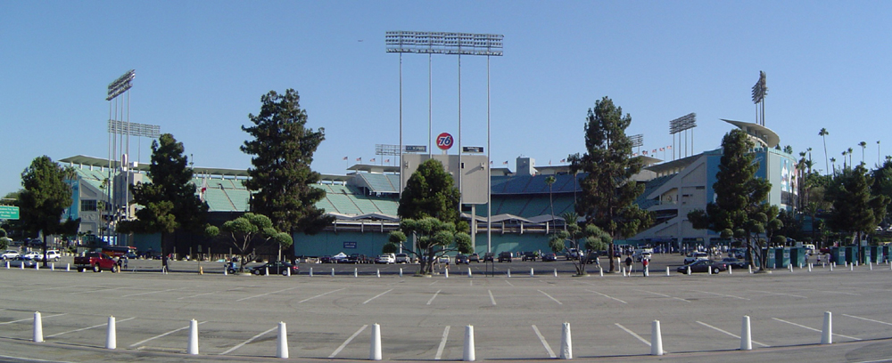 StadiumPage.com - Dodger Stadium Exterior