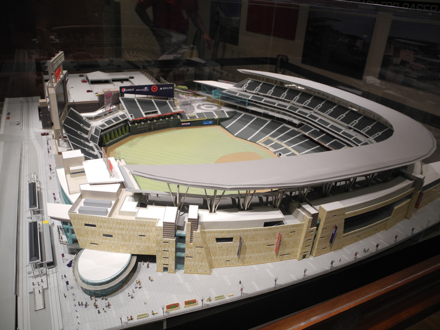These model photos were taken on the club level of target field