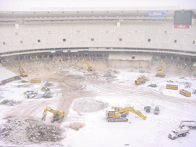 Philadelphia Eagles Veterans Stadium demolition